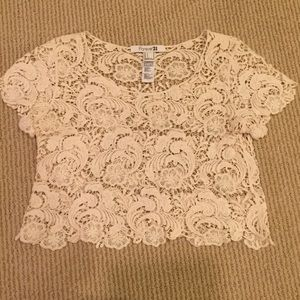 Forever 21 Lace Boho Crop Top NEVER BEEN WORN